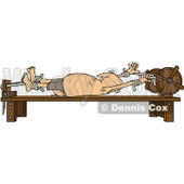 Clipart Man Stretched Out On A Rack - Royalty Free Vector Illustration © Dennis Cox #1081752