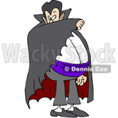 Clipart Vampire Covering His Face With His Cape - Royalty Free Vector Illustration © djart #1082186