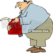 Clipart Man Holding A Gas Can - Royalty Free Vector Illustration © djart #1082266