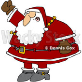 Clipart Santa Waving His Fist In The Air - Royalty Free Vector Illustration © djart #1084446