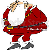 Clipart Santa Plugging His Ears - Royalty Free Vector Illustration © Dennis Cox #1084858
