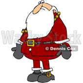 Clipart Santa Nervously Looking Down - Royalty Free Vector Illustration © Dennis Cox #1084859
