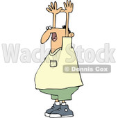 Clipart Held Up Man - Royalty Free Vector Illustration © Dennis Cox #1087111