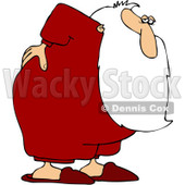 Clipart Santa With An Aching Back - Royalty Free Vector Illustration © djart #1087210