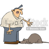 Clipart Man Yelling At A Bad Dog - Royalty Free Vector Illustration © Dennis Cox #1091967