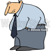 Clipart Depressed Businessman Hanging His Head Low - Royalty Free Vector Illustration © djart #1096551