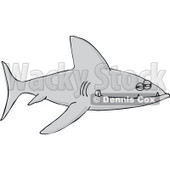 Clipart Sinister Shark With Sharp Teeth - Royalty Free Vector Illustration © djart #1101694