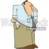 Clipart Businessman With Empty Pockets - Royalty Free Vector Illustration © djart #1101696