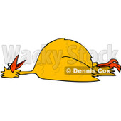 Clipart Dead Yellow Bird On Its Back - Royalty Free Vector Illustration © djart #1104853
