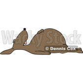 Clipart Dead Brown Dog On Its Back - Royalty Free Vector Illustration © djart #1104854