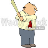 Clipart Businessman Batting - Royalty Free Vector Illustration © djart #1104856