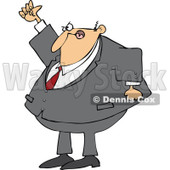 Clipart Mad Businessman Shaking His Fist In The Air - Royalty Free Vector Illustration © djart #1105053