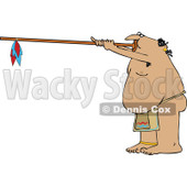 Clipart Native American Man Using A Dart Blowgun - Royalty Free Vector Illustration © djart #1105910