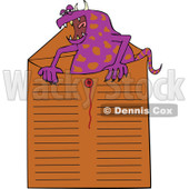 Clipart Office Monster In An Envelope - Royalty Free Vector Illustration © djart #1111309