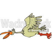 Clipart Happy Bird Flying - Royalty Free Vector Illustration © Dennis Cox #1111310