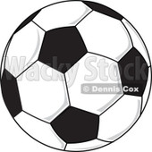 Clipart Soccer Ball - Royalty Free Vector Illustration © Dennis Cox #1113539