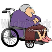 Senior Woman in a Wheelchair Clipart Picture © djart #11137