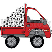 Clipart Kei Truck With Soccer Balls - Royalty Free Vector Illustration © djart #1114226