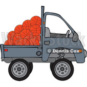 Clipart Kei Truck With Basketballs - Royalty Free Vector Illustration © Dennis Cox #1114228