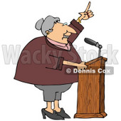 Proud Female Politician Gesturing With Her Hand While Giving a Public Speech Clipart Picture © djart #11145