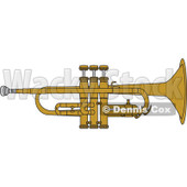 Clipart Brass Trumpet - Royalty Free Vector Illustration © Dennis Cox #1115116
