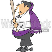 Clipart Vampire Holding A Baseball Bat - Royalty Free Vector Illustration © djart #1115690
