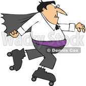 Clipart Halloween Vampire Roller Skating - Royalty Free Vector Illustration © djart #1116088