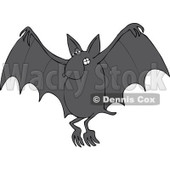 Cartoon Of A Flying Dog Bat - Royalty Free Vector Clipart © Dennis Cox #1119542