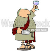 Roman Soldier Toasting With a Glass of Wine and Holding a Sword Clipart Picture © Dennis Cox #11248