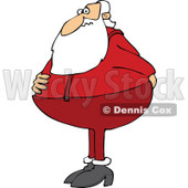 Cartoon of Santa Holding His Rear and Needing to Use the Restroom - Royalty Free Vector Clipart © djart #1146375