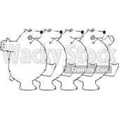 Cartoon of a - Royalty Free Vector Clipart © djart #1151311