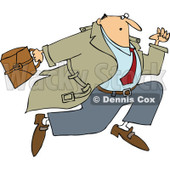 Cartoon of a Businessman Sprinting - Royalty Free Vector Clipart © Dennis Cox #1154597