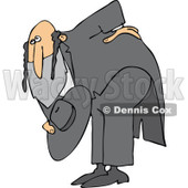 Cartoon of a Polite Rabbi Bowing - Royalty Free Vector Clipart © Dennis Cox #1172269