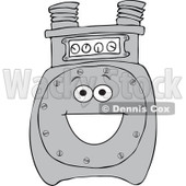 Cartoon of a Happy Gas Meter Mascot - Royalty Free Vector Clipart © Dennis Cox #1184723