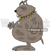 Cartoon of a Junk Yard Dog Standing Upright with Fisted Paws - Royalty Free Vector Clipart © djart #1189050