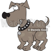 Cartoon of a Happy Dog Grinning - Royalty Free Vector Clipart © djart #1196165