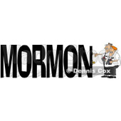 Cartoon of Mormon Missionaries Knocking on a Door to the Word MORMON - Royalty Free Clipart © Dennis Cox #1213312