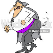 Clipart of a Vampire Farting Bats - Royalty Free Vector Illustration © djart #1215433