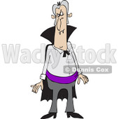 Clipart of a Vampire Standing with an Angry Expression - Royalty Free Vector Illustration © Dennis Cox #1221475