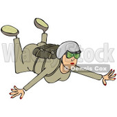 Clipart of a Woman Falling While Sky Diving - Royalty Free Illustration © Dennis Cox #1222720