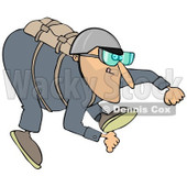 Clipart of a Skydiving Man - Royalty Free Illustration © djart #1222722