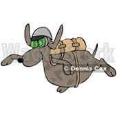 Clipart of a Dog Skydiving - Royalty Free Illustration © Dennis Cox #1222947