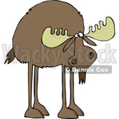 Clipart of a Moose with Long Legs - Royalty Free Vector Illustration © djart #1225960