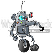 Clipart of a Robot with Wheels - Royalty Free Illustration © djart #1235588