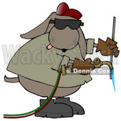 Industrial Dog Welding Clip Art Illustration © Dennis Cox #12369