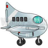 Clipart of a Boy Flying an Airplane - Royalty Free Illustration © Dennis Cox #1238978
