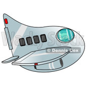 Clipart of a Boy Piloting an Airplane - Royalty Free Illustration © djart #1238979