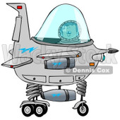 Clipart of a Boy Astronaut Operating a Spaceship - Royalty Free Illustration © djart #1238981