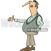 Clipart of a Caucasian Man Gesturing and Explaining - Royalty Free Vector Illustration © djart #1238982