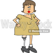 Clipart of a Caucasian Woman with an Artificial Prosthetic Leg - Royalty Free Vector Illustration © djart #1240170